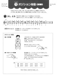 『ピアノランドたのしいテクニック』下巻 レッスン1より 「少しとぶ」