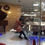 ピアノランド原画展 クリスタルピアノでミニコンサート♪