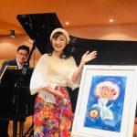 小原孝さん、『ラプソディ第1&2番』のレクチャーと演奏を、本間ちひろさん、素敵な絵をありがとう!